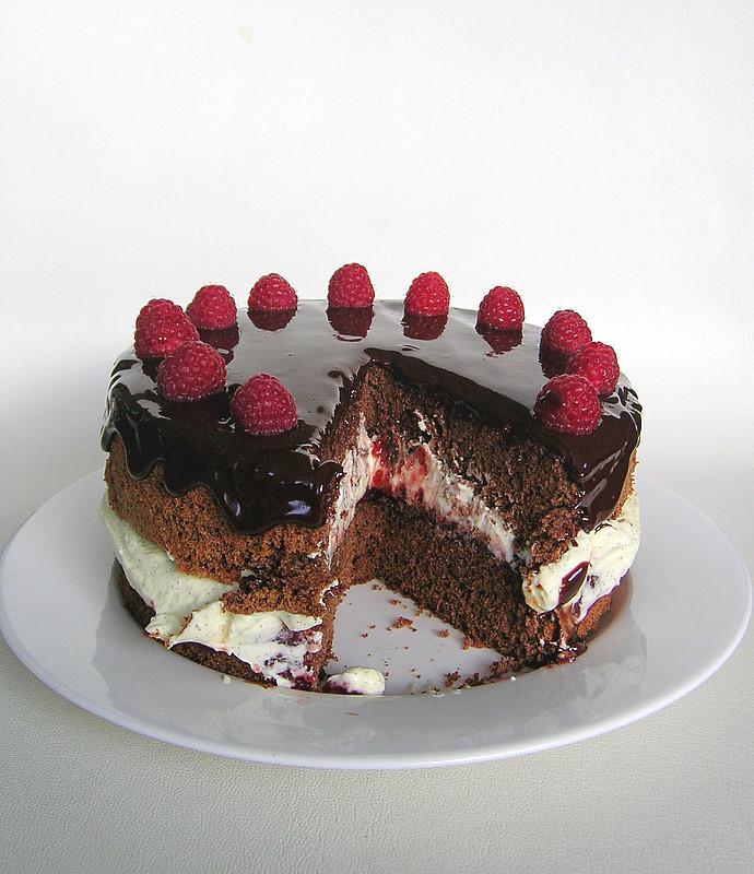 Black Raspberry Jam Cake