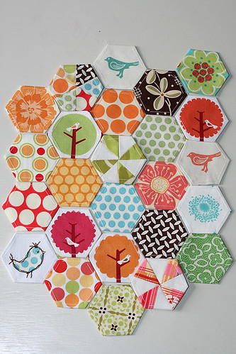 Birds & Flowers Hexagon Set | by Little Miss Shabby