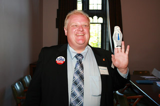 Rob Ford with puppet | by Shaun Merritt