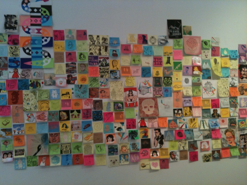 rad post it note art show giant robot gallery on 9th ave flickr. Black Bedroom Furniture Sets. Home Design Ideas