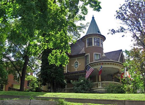 Victorian House With Round Tower And Veranda Decorah Iow