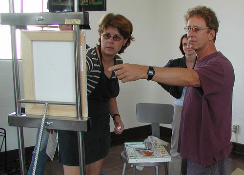 Professor Jack Reilly with Art Students Painting | by California State University Channel Islands