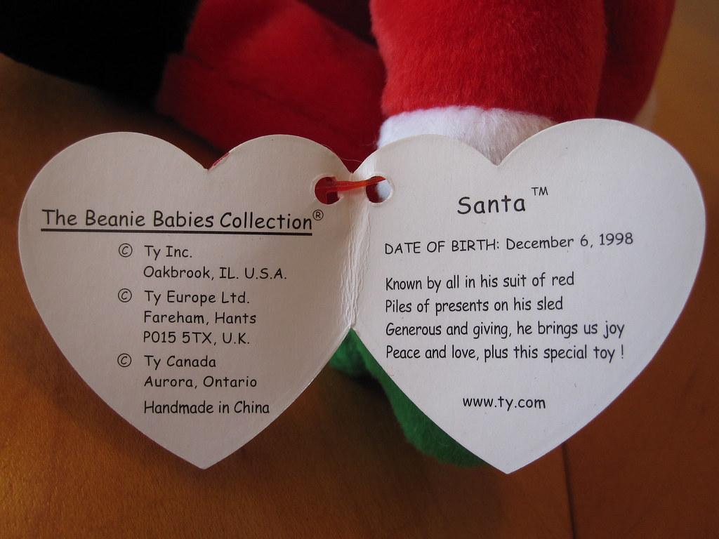 ... jessicagreen0202 Ty Santa Beanie Baby Hang Tag  91b7ba2a55f6