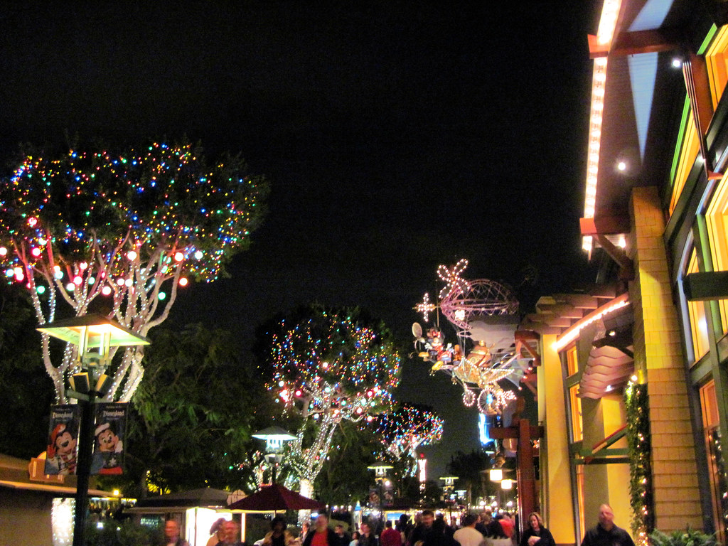 downtown disney at christmas near disneyland by dominusvobiscum - Downtown Disney Christmas
