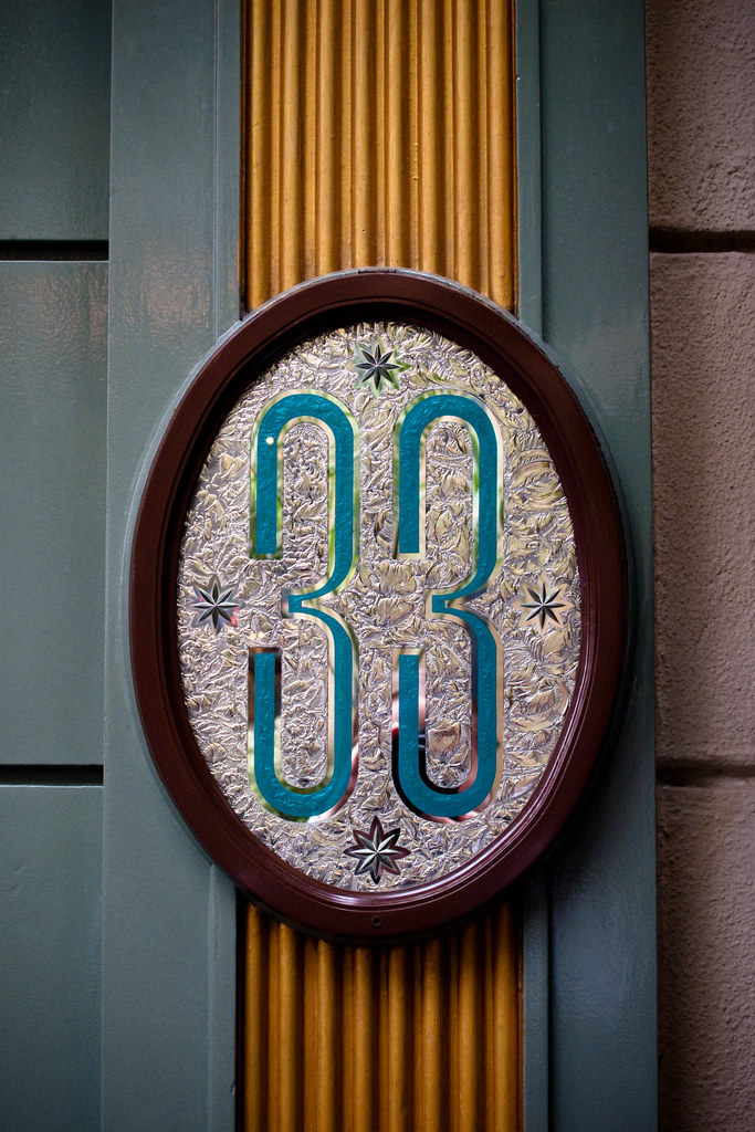 Club 33   The only sign for the entrance to Disneyland's ...
