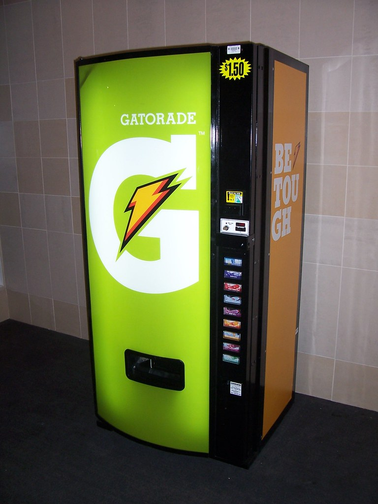how to open gatorade vending machine