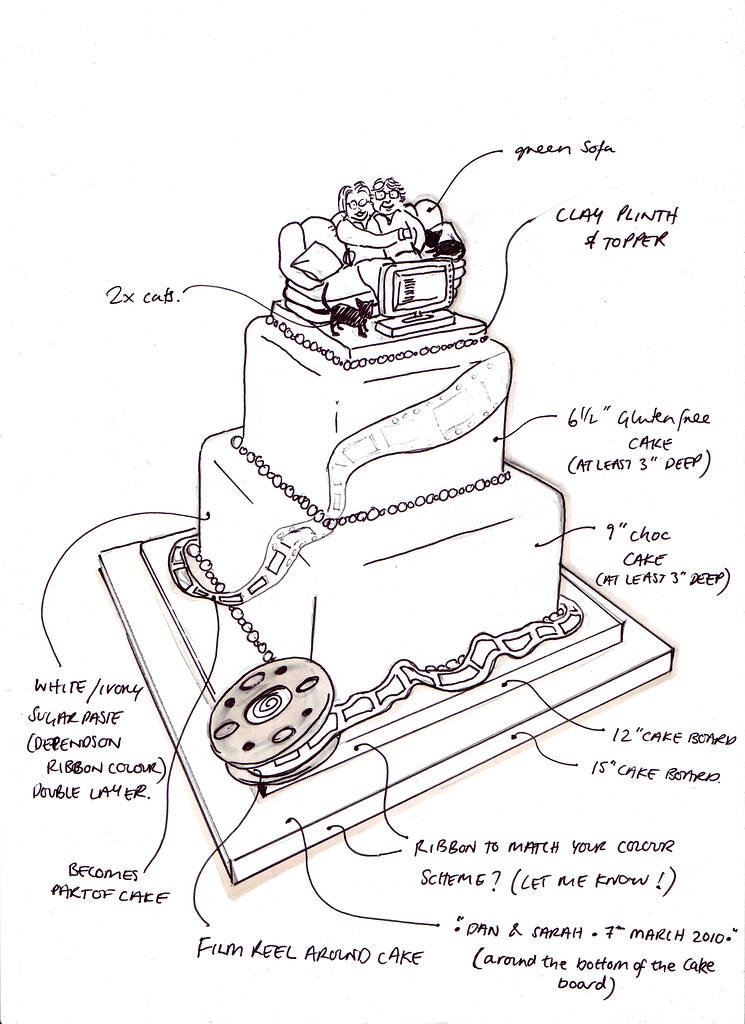 Sketch A Cake Design : Wedding Cake Sketch Caking it... Flickr