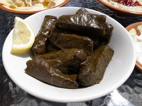Stuffed grape leaves | by pelican