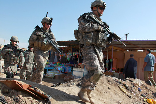 Soldiers in Ebnkathwer, Iraq | by The U.S. Army