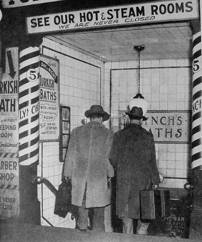 1950s TIMES SQUARE VINTAGE PHOTO Steam Rooms Turkish Bath Flickr