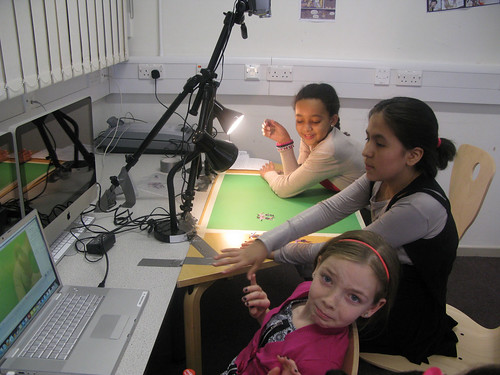 Easter Animation Workshop Pixilation, Green Screen and Cut out for Southwark Gifted and Talented at the Southwark City Learning Centre _ Using green screen | by Quirky Pictures Animation Workshops