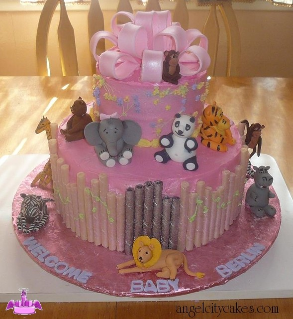We Did This Zoo Animals Cake For A