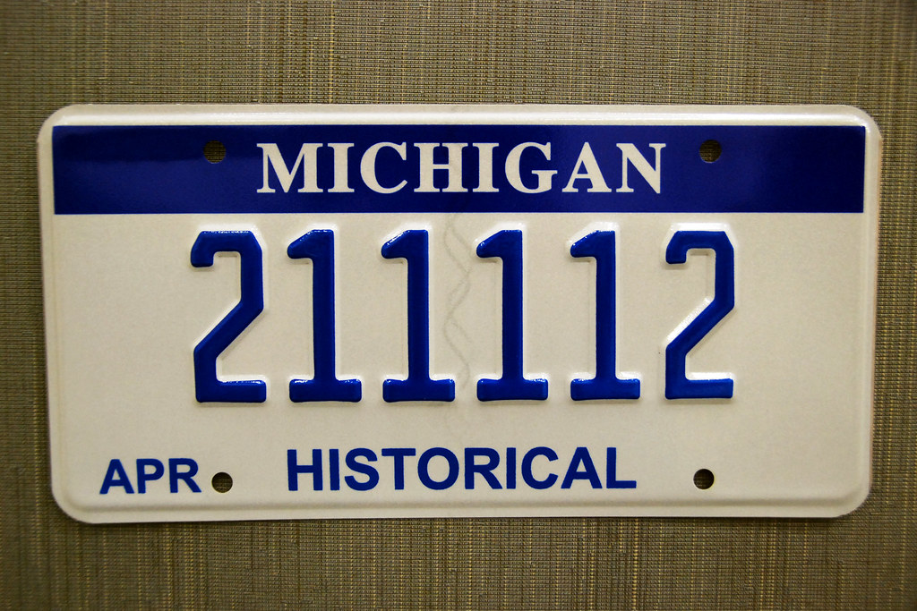 Michigan Historical (Historic) License Plate for classic v… | Flickr
