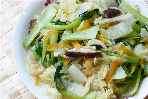 Teczcape - An Escape To Food: Stir-fry Bok Choy and Napa Cabbage | by CinnamonKitchn