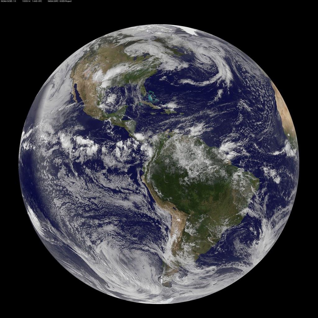Nasa Goes 13 Full Disk View Of Earth May 14 2010 Nasa