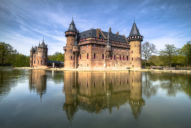 castle de haar in the netherlands  front view