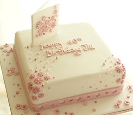 square-floral-60th-birthday-cake novelty birthday cakes ...