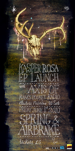 Poster for ep launch | by John Quinn