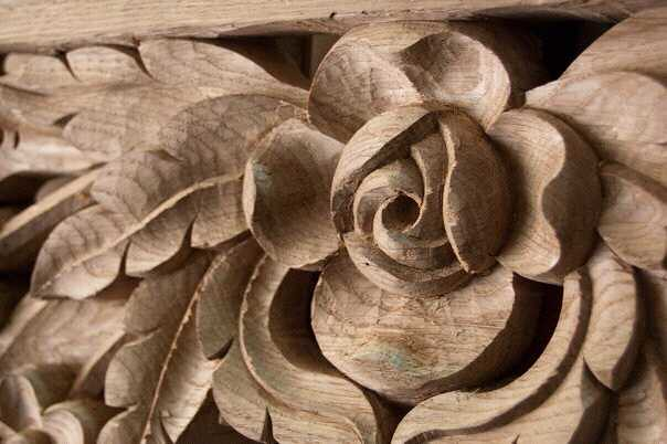 Wooden rose g carved in oak wood igor jandric