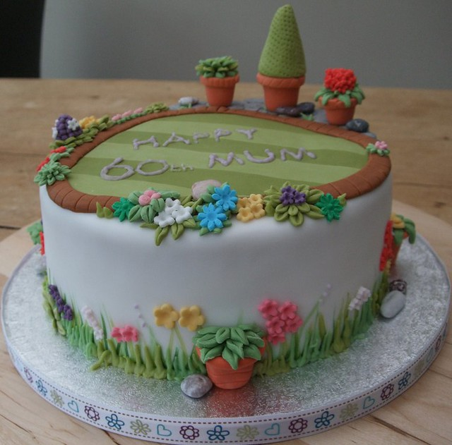 60th garden cake this cake was heavily inspired by jo 39 s for Gardening 80th birthday cake