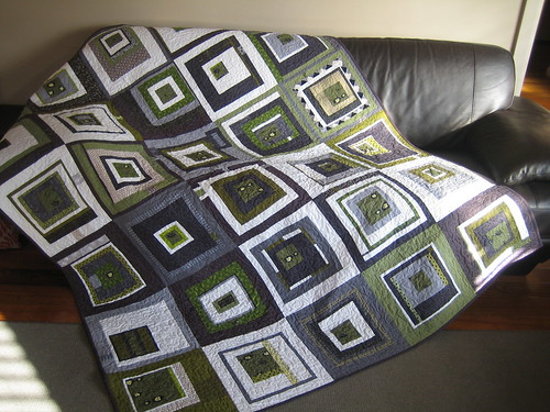 Australasian Bee Quilt Finished - front | by sparklygreenknickers