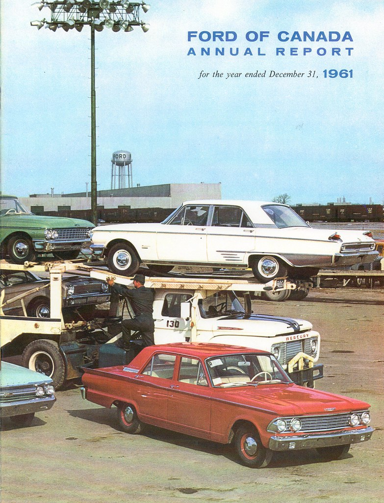 Ford Motor Company Of Canada 1961 Annual Report C2 Flickr