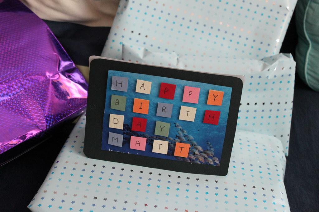 Ipad birthday card it took lauren about an hour to make t flickr by matt gemmell ipad birthday card by matt gemmell bookmarktalkfo Image collections