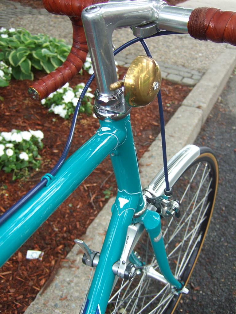Crane Karen Brass Bell On Velo Orange Headset Mount Flickr