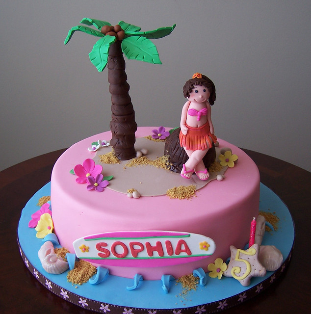 Cake Images Sonal : Luau cake Lual cake for a little girl s birthday ...