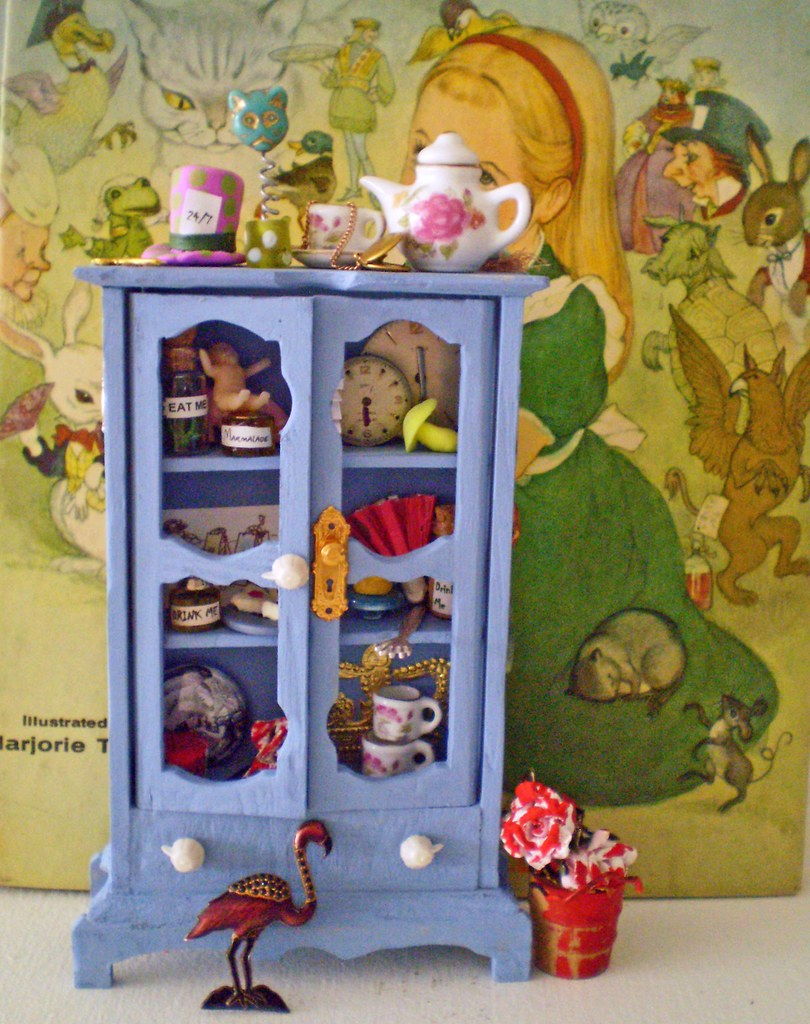 alice in wonderland enchanted miniature cabinet set w fre u2026 flickr