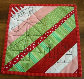 back of Christmas mini-quilt | by vickivictoria