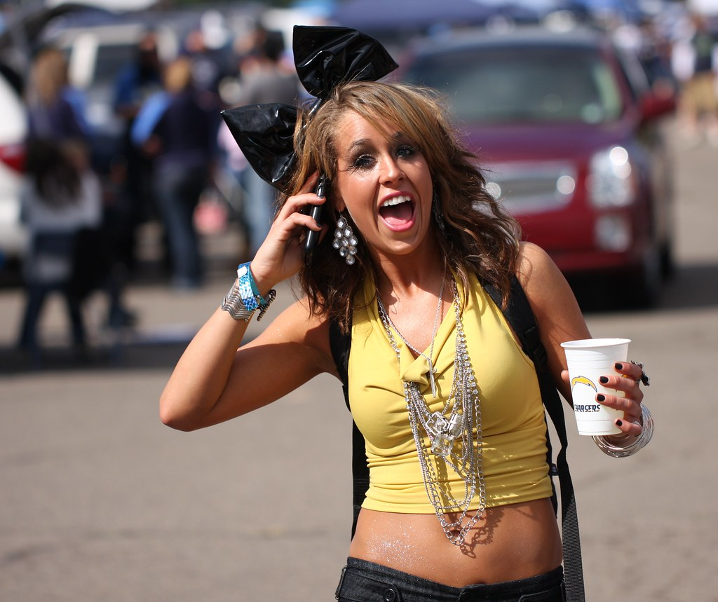 You Re On Candid Camera A Fan Chats On The Phone In The