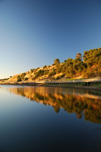 Sunset river reflections - Onkaparinga River Recreation Park | by avlxyz