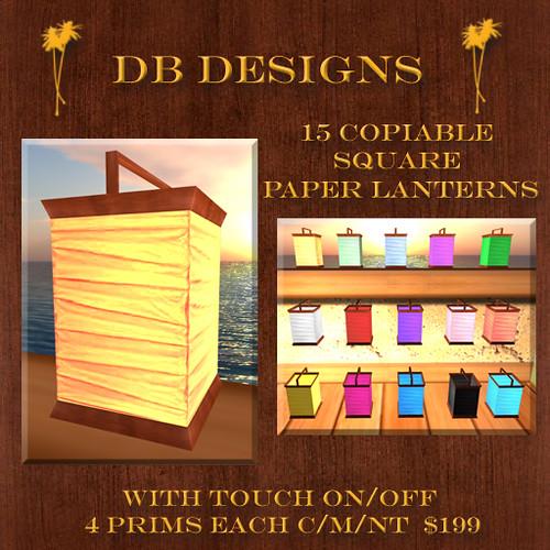 DB Designs 15 Copiable Square Paper Lanterns Ad | Check them… | Flickr