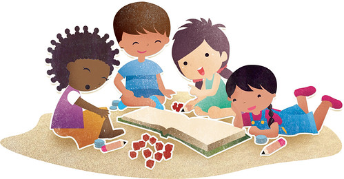 Kids Playing Games Clip Art Children playing games clipart