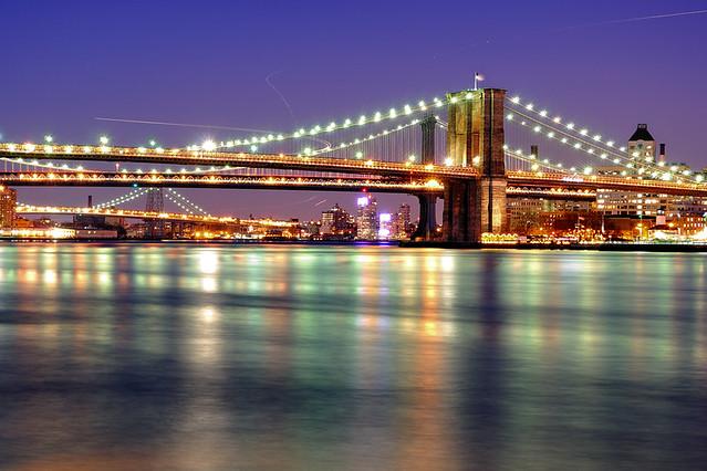 Bmw Twilight Brooklyn Manhattan And Williamsburg Bridge