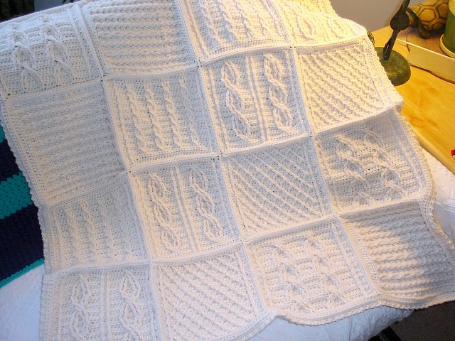 Crochet Cable Afghan From Joyce Nordstrom Quot Classic