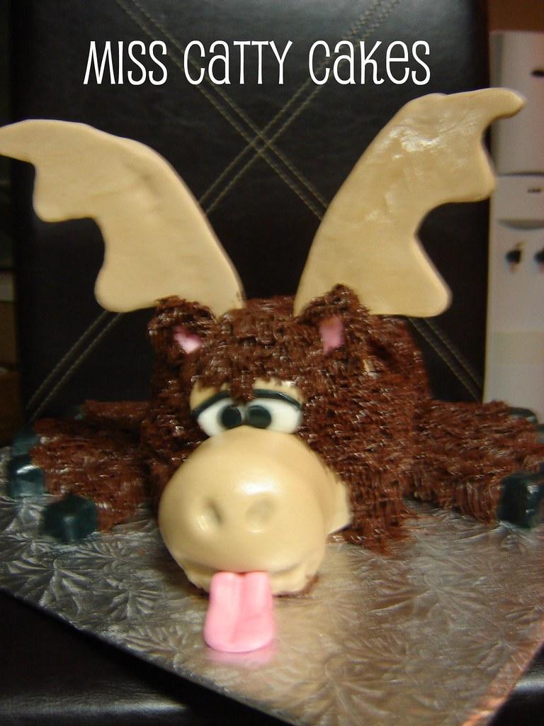 Dads Eight Legged Moose Birthday Cake Its An Inside Joke Flickr