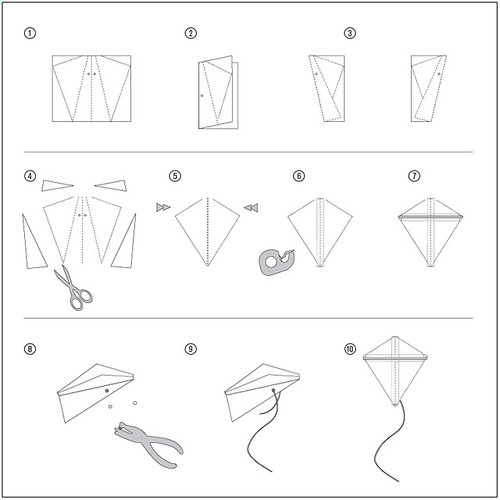 How to make a kite step by step images galleries with a bite - How to make a kite ...