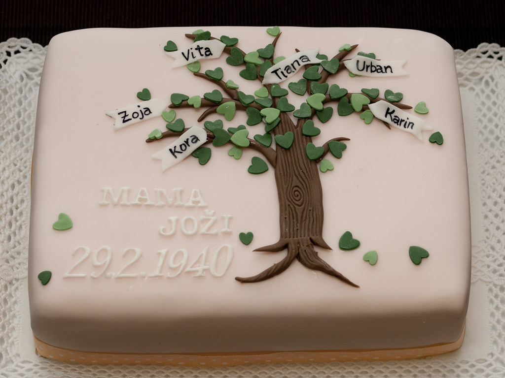 Family Tree Cake Matejad Flickr