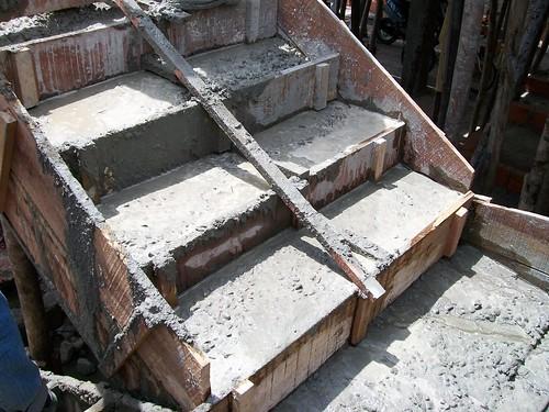 Vaciado de escalera de concreto eudis de freitas flickr for Escaleras retractiles