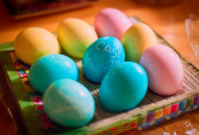 The Easter Eggs Are Dyed