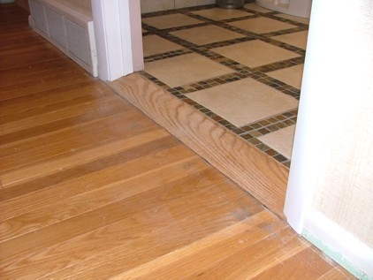 Oak Floor To Tile Floor Transition Sill Gregg Miller