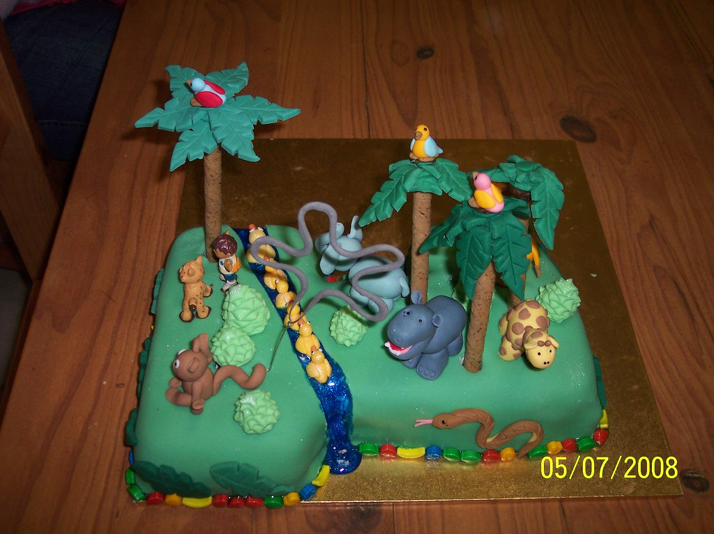 Go Diego Go Jungle Themed St Birthday Cake Go Diego Go Flickr - Go diego go birthday cake