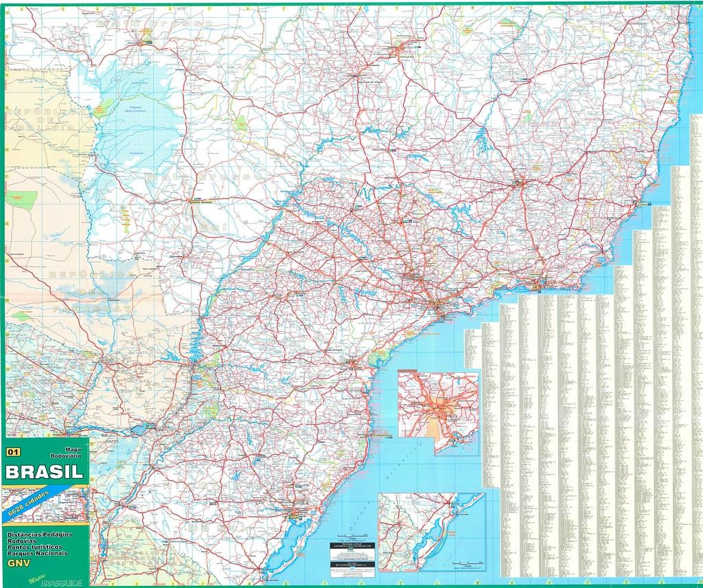 Brazil road map mapa vial de Brasil 01 Douglas Fernandes Flickr