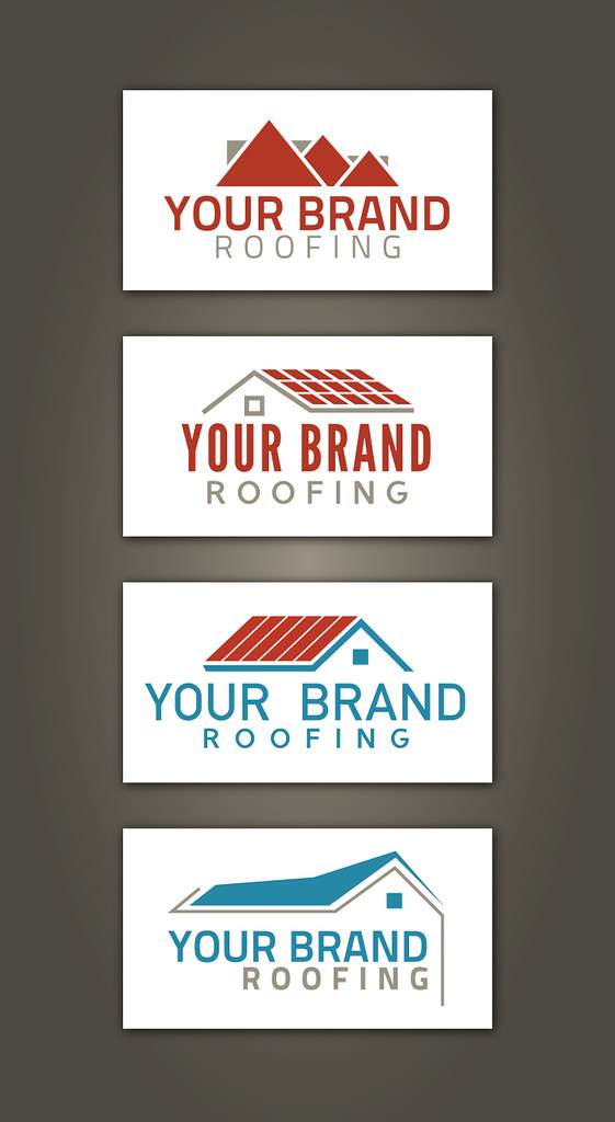 Set of free roofer and roofing contractors logo design sam ...
