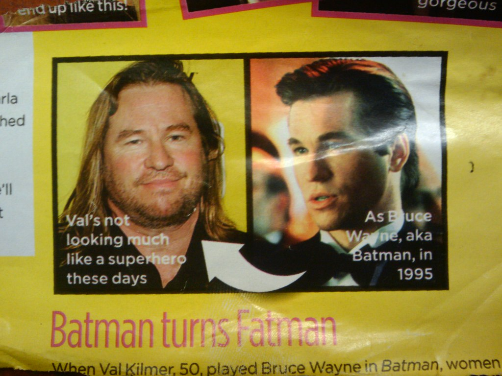 worrying comparison photo of val kilmer  now and then  whi