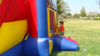 Niall entering bounce house | by GraceFamily