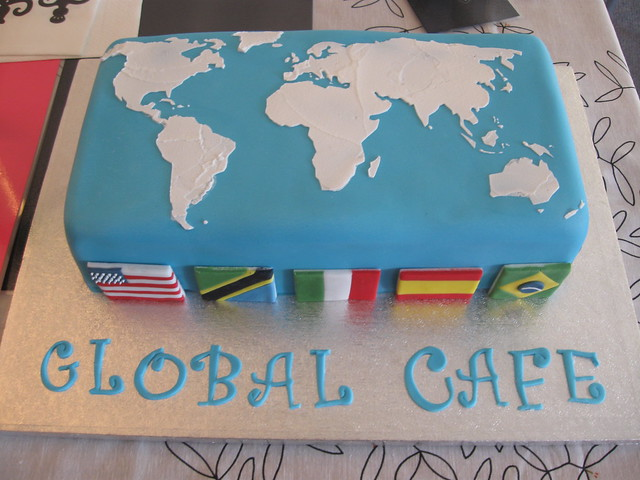 World Map Cake Flickr Photo Sharing