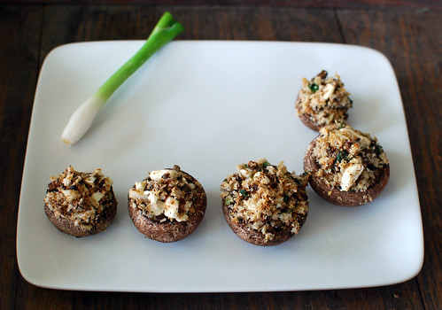 Crumbled Feta Stuffed Mushrooms | by crd!